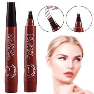 Waterproof Eyebrow Pen Pencil Makeup Eye Microblading Eyeshadow Tattoo Liquid US