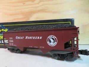 WEAVER TRAIN GN 2-BAY GREAT NORTHERN RAILROAD HOPPER CAR W/COAL W/BOX 73699