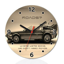 Car Definition Back to The Future Round Wall Clock Home Office Room Decor
