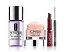 Clinique 4 piece Mini Faves Kit, Honey Lipstick, Moisturizer, Eyeliner🌹Take Day