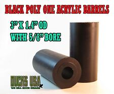 "Duck Call Acrylic Black Barrel Blanks 2.7"" X 1.4"" OD and  5/8"" Bore"