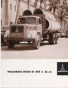 Magirus Deutz 200 D 22 L 6x4 1966 Original Sales Sheet