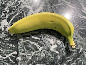 Vintage Mary Kirk Kelly Hand Painted Signed Ceramic Fruit Banana