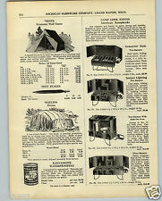 1936 PAPER AD 2 PG Camp Cook American Kampkooks Stoves Coleman Parts Repair List