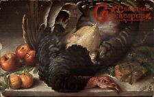 Thanksgiving - Dead Turkey TUCK Oilette #6659 c1910 Postcard