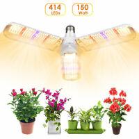150W LED Grow Light Lamp Full Spectrum Hydroponic Veg Flower Bloom Indoor Plant