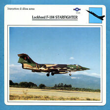 SCHEDA TECNICA AEREI - LOCKHEED F-104 STARFIGHTER - (USA)