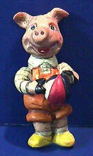 Salamander Poliwoggs Miniature PIGGY WITH TOY BALL FIGURINE Retired!