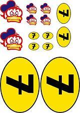 x1 Barry Sheene Duck Visor Sticker Kit Decals (more in ebay shop) Number 7