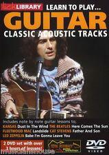 LICK LIBRARY Impara a Suonare Classiche tracce acustiche KANSAS i Beatles Chitarra DVD