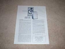 Dynaco A-25 Speaker Review, 1 pg, 1968, Info