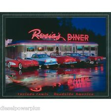 Vintage Replica Tin Metal Sign Corvette Route 66 Rosies diner Chevy Classic 1128