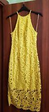 Vestito Guess donna abito tg XS pizzo giallo indossato 1 volta