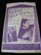 Partition Sweet illusion Jean Degeorge and V Marceau Music Sheet