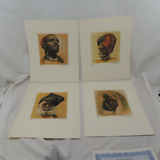 Rico Tomaso SIGNED Artists Proofs Set of 4 Men Sikh Cossack Imam Inuit