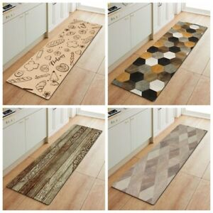Non-Slip Waterproof Kitchen Door Mat Home Floor Rug Carpet Anti-Oil Easy Clean M