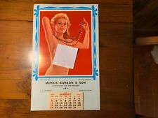 "HTF PinUP Calendar 1964 ""Endearing Young Charms"" Rockland Maine Advertising Look"