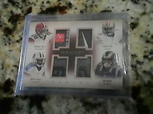 PANINI IMMACULATE COLLECTION 3/5 QUAD PATCH NIKE LAUNDRY TAG BISHOP SANKEY