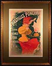 Pastilles Poncelet Orig 1896 Color Lithograph by Jules CHERET (Poster)