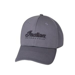 INDIAN OEM PERFORMANCE HAT WITH EMBROIDERED SCRIPT LOGO, GRAY P/N 2860744