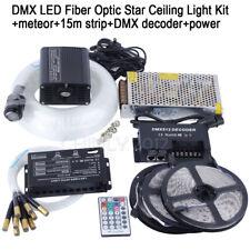 DMX51216W RGBW LED Fiber Optic Star Ceiling Kit + Meteor+Strip+DMX Decoder+Power