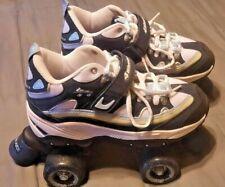 4 Wheelers Street Skates Size 4 Blue, White & Yellow