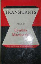 Cynthia Macdonald / Transplants Signed and Inscribed First Edition 1976