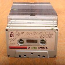 12 TDK D C90 90 Minute Cassette Audio Tapes