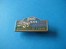 Raid 4x4 Paris Cabourg Rally pin badge, VGC. Bagnoles De L'orne. Enamel.