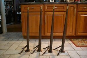 """4 Metal Table Legs Mid Century 29"""" Office School Dinette Vintage Tapered Sleek"""