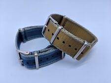 22mm Premium Military NATO Watch Strap - 20% Discount Twin Pack - Navy & Khaki