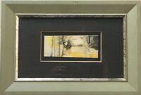 Abstrakte Komposition MiniaturenSammlung Jos de Cock Belgien 20,5 x 30 cm