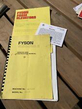 Fyson Farm Elevator Service And Instruction Manual
