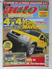 AUTO VERTE  4X4 N° 230 / MAVERICK/BMW X5/ ML VS Gd CHEROKEE/ RANGE VS TAHOE