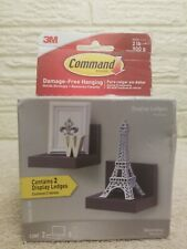 Command Display Ledges, Slate, 2 display ledges, 8 medium strips