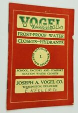 Vintage Vogel Frost Proof Water Closets Hydrants 12 Page Catalog