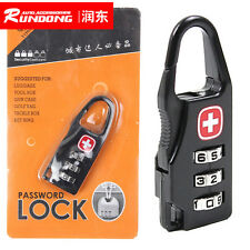 Combination Padlock 3 Dial Travel Suitcase Luggage Bag Code Lock