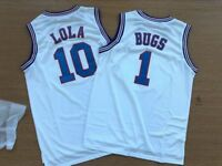 ee0ef772a2a Space Jam Tune-Squad Basketball Jersey Lola  10 Bugs Bunny  1 Movie White