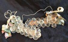 Vintage Faceted Cut Clear Plastic Acrylic Grapes Decor