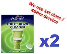 2x Astonish Toilet Bowl Cleaner Ideal Para durante la noche Limpieza PK 10 comprimidos