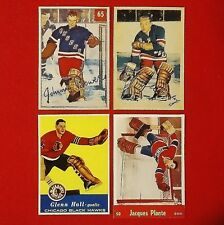 Bower/Worsley/Hall/Plante (Rookie Reprints) - 1950's - Parkhurst - Lot of 4