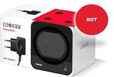 STARTERSET: Roter Boxy Fancy Brick Uhrenbeweger (mit Stromadapter) von Beco