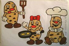 Window Color Fensterbilder Küchenmotiv Lustige Kartoffeln Nr.2