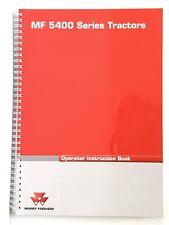 Massey Ferguson Tractors MF 5400 Series Operator Instruction Book Manual 2008