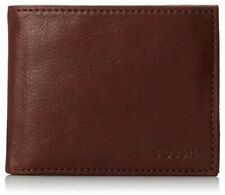 Fossil Men's Ingram Bifold Wallet, ML3447609 Leather Wine