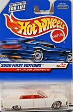 Hot Wheels 063 1964 Lincoln Continental, 2000 First Editions 3/36, Car/Card Mint