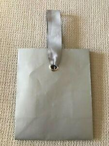 "Gift Bag Small  Silver 6 1/2""TX 5 1/2""WX3""D Hallmark New (B53)"