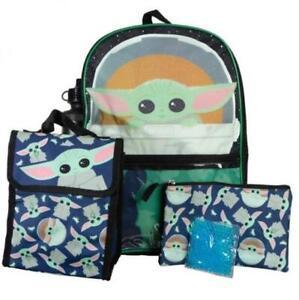 Bioworld Mandalorian Baby Yoda Backpack School Set