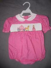 Baby Girl Smocked Boutique PRINCESS Bubble 18m Cinderella Pink New Giraffe VLF
