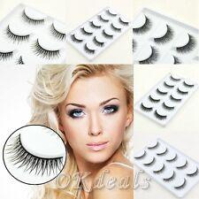 5Pares Chicas Falsas pestañas postizas Extensión Maquillaje Eyelashes Makeup